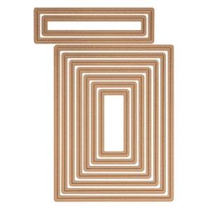 Spellbinders A-2 Matting Basics B Card Creator Die Set class=
