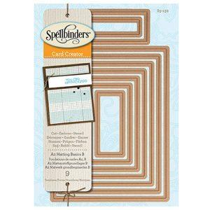 Spellbinders A-2 Matting Basics B Card Creator Die Set