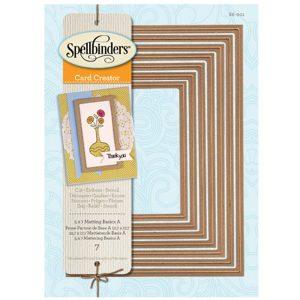 Spellbinders 5 X 7 Matting Basics A Card Creator Dies class=