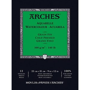 Arches 9″ X 12″ Watercolor Cold Pressed Paper Pad