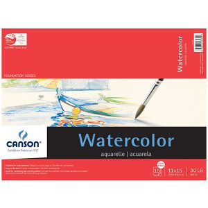 "Canson 11"" x 15"" Watercolor Cold Press Paper Pad - 90lb. (185g)"