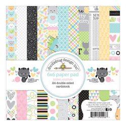 "Doodlebug Kitten Smitten Double-Sided Paper Pad - 6""x6"""