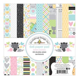 "Doodlebug Kitten Smitten Double-Sided Paper Pad - 6""x6"""