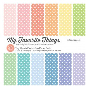 "My Favorite Things Tiny Hearts Pastels Paper Pack - 6"" x 6"""