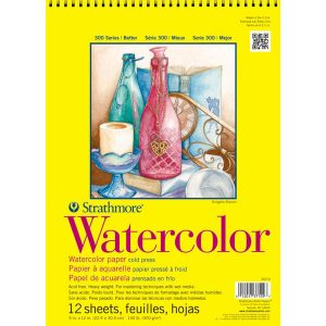 "Strathmore Watercolor Spiral Paper Pad 9""X12"" - Cold Pressed"