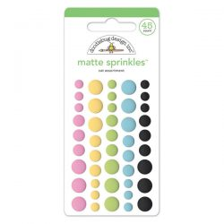 Doodlebug Sprinkles Adhesive Matte Enamel Dots - Cat Assortment