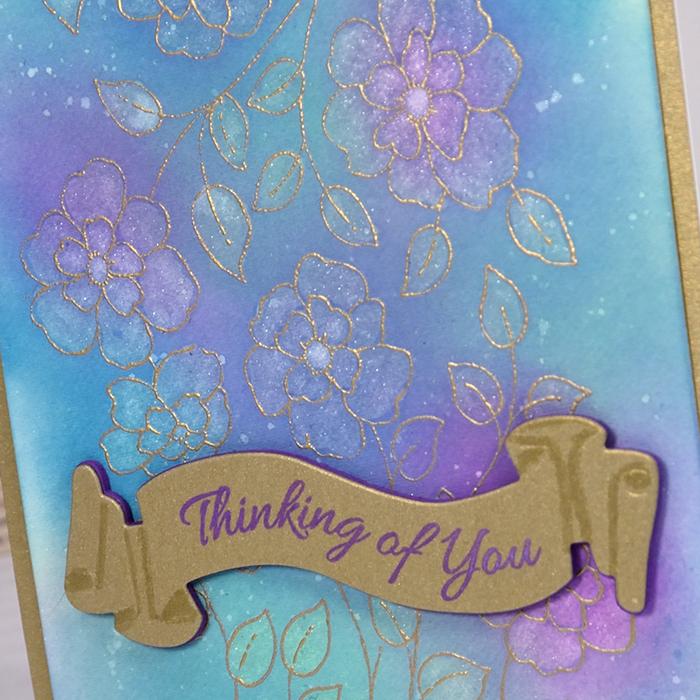 Felicity Emboss Resist Card