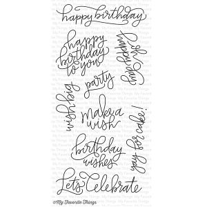 My Favorite Things Handwritten Happiness Stamp Set
