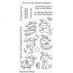My Favorite Things Puppy Pals Stamp Set