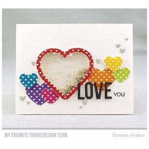 My Favorite Things Heart Shaker Pouches class=