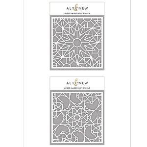 Altenew Layered Kaleidoscope Stencil - A class=