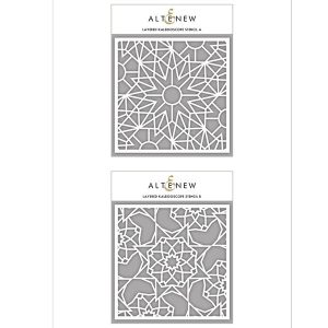 Altenew Layered Kaleidoscope Stencil - B class=