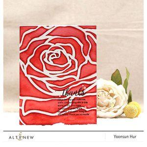 Altenew Mega Rose Stencil class=