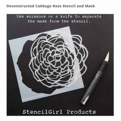 Stencil Girl Deconstructed Cabbage Rose Stencil and Mask