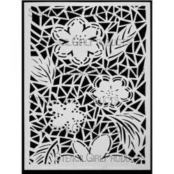 Stencil Girl Flower and Leaf Stencil