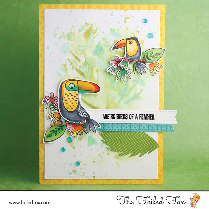 Birds of a Feather card by The Foiled Fox