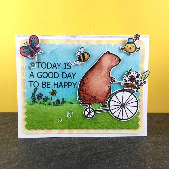 Happy Day card by The Foiled Fox