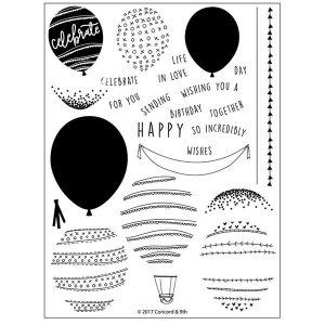 Concord & 9th Happy Balloons Stamp Set