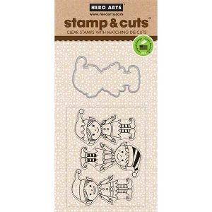 Hero Arts Santa's Elves Stamp & Cut