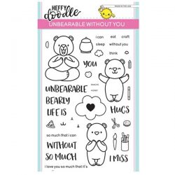 Heffy Doodle Unbearable Without You Stamp Set