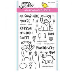 Heffy Doodle Ad-roar-able Lions Stamp Set