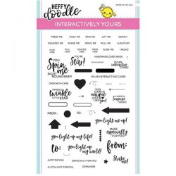 Heffy Doodle Interactively Yours Stamp Set