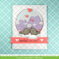Lawn Fawn Sealed With a Kiss Stamp Set