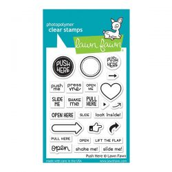 Lawn Fawn Push Here Stamp Set