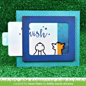 Lawn Fawn Push Here Stamp Set class=