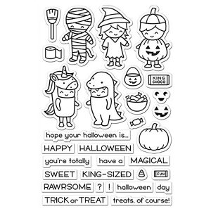Lawn Fawn Costume Party Stamp Set class=