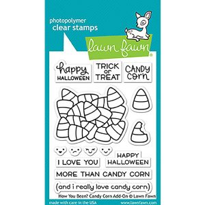 Lawn Fawn How You Bean? Candy Corn Add-On Stamp Set