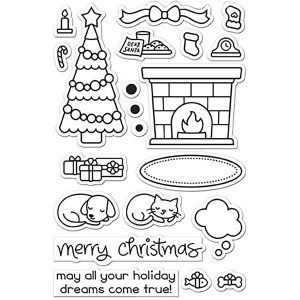 Lawn Fawn Christmas Dreams Stamp Set class=