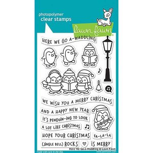 Lawn Fawn Here We Go A-Waddling Stamp Set