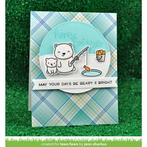 Lawn Fawn Beary Happy Holidays Stamp Set class=