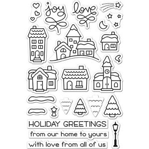Lawn Fawn Winter Village Stamp Set class=