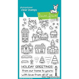 Lawn Fawn Winter Village Stamp Set