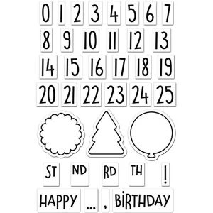 Lawn Fawn Celebration Countdown Stamp Set class=