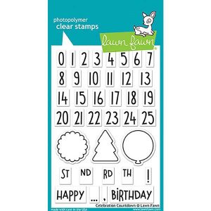 Lawn Fawn Celebration Countdown Stamp Set