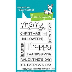 Lawn Fawn Happy Happy Happy Add-On Stamp Set