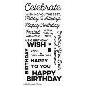 My Favorite Things Big Birthday Wishes Stamp Set