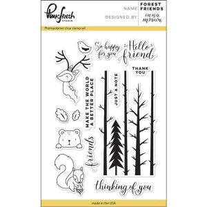 Pinkfresh Forest Friends Stamp Set