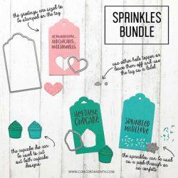 Concord & 9th Sprinkles Tag Dies