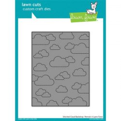 Lawn Fawn Stitched Cloud Backdrop (Portrait) Lawn Cuts