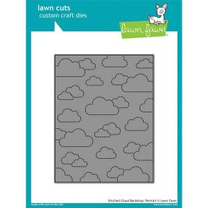 Lawn Fawn Stitched Cloud Backdrop (Portrait) Lawn Cuts