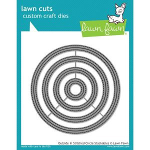 Lawn Fawn Outside In Stitched Circle Stackables Lawn Cuts