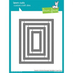 Lawn Fawn Outside In Stitched Rectangle Stackable Lawn Cuts