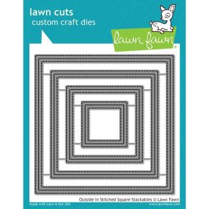 Lawn Fawn Outside In Stitched Square Stackables Lawn Cuts