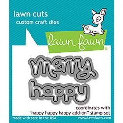 Lawn Fawn Happy Happy Happy Add-On Lawn Cuts