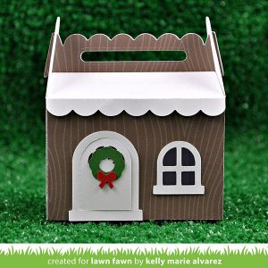 Lawn Fawn Scalloped Treat Box Winter House Add-on class=