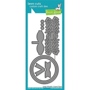 Lawn Fawn Large Wreath Lawn Cuts